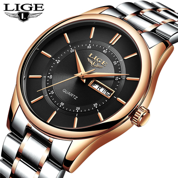 Lige Luxury Fashion Dress Waterproof Men Quartz Watches 4