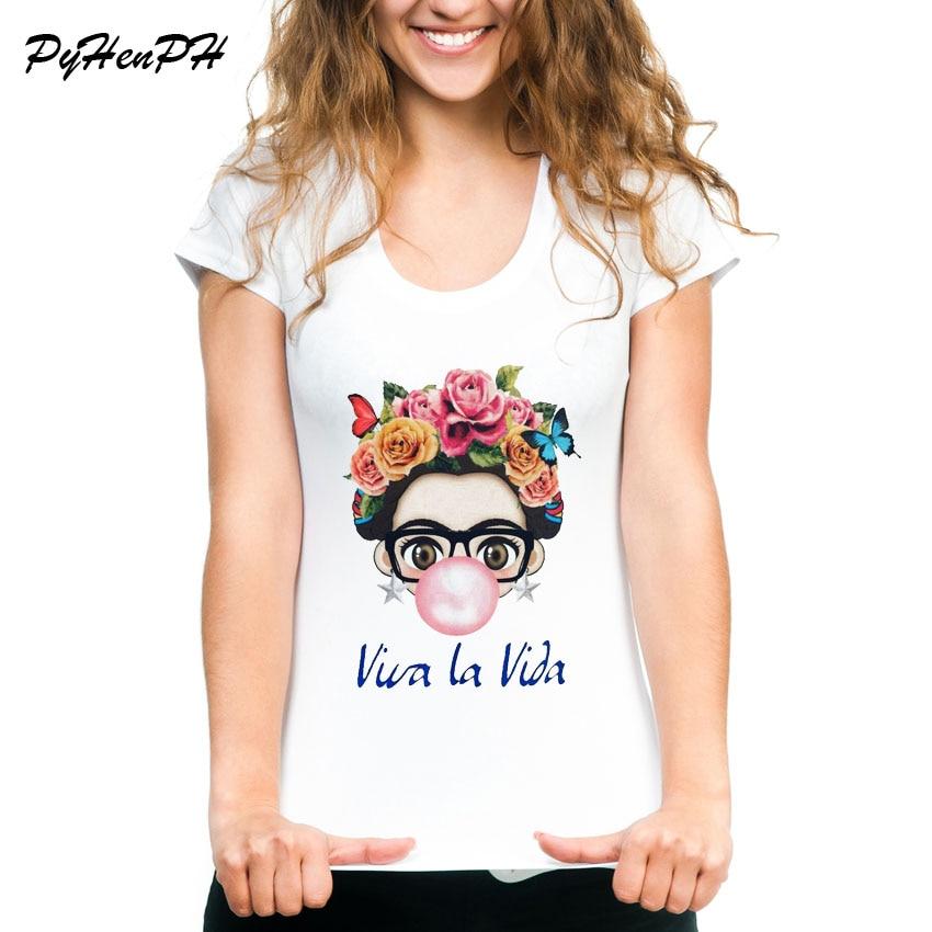 Mexiko Künstler Design Frauen T-Shirt Charisma Fride weibliche T-shirt sommer casual Tops spaß nettes Mädchen Tees