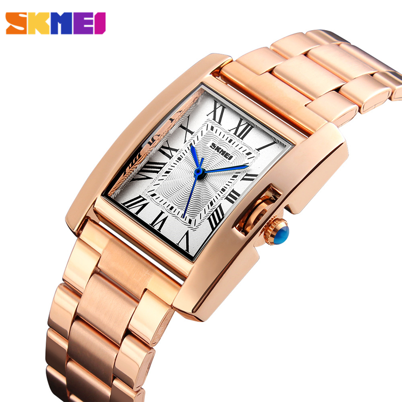 SKMEI Brand Women Watches Quartz Fashion Casual Ladies Watch 30m Waterproof Lady Wristwatches Montre Femme Relogio Feminino 1284 free shipping for vland car styling head lamp for vw golf 7 headlights led drl led signal h7 d2h xenon beam