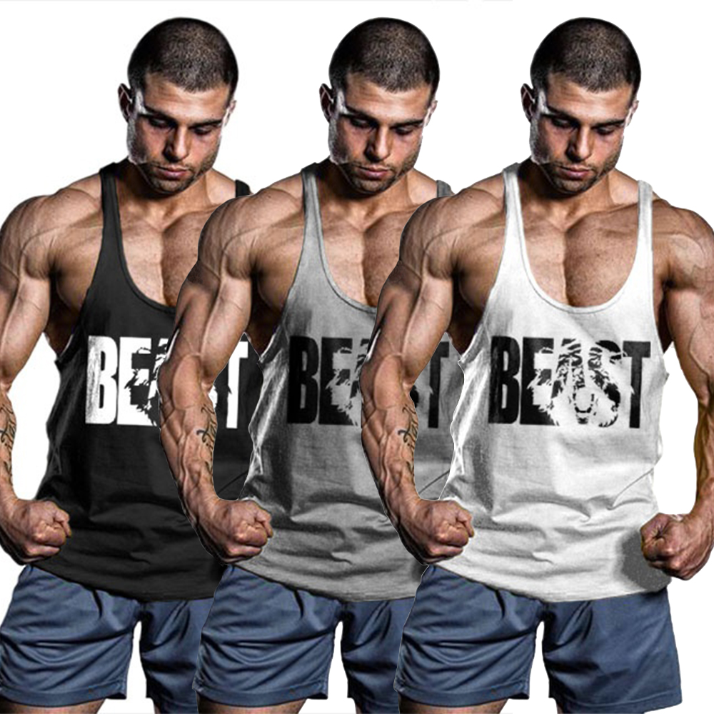 OA Men BEAST MODE   Tank     Tops   Outfits Gyms Sportswear Bodybuilding   Tanks   Workout Singlets Stringe