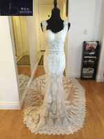 Sexy See Through Mermaid Wedding Dresses 2018 Sweetheart Lace Corset Dress For Bride Vestido de noiva