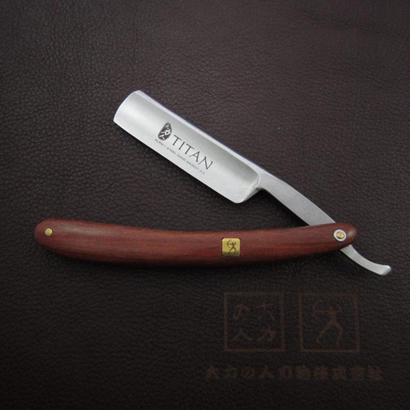 Бесплатная доставка Titan деревянной ручкой бритвой стальное лезвие резкое уже