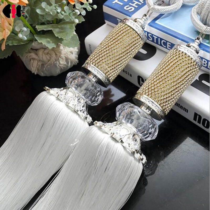 Orderly Window Diamond Crystal Rope Tie Backs Blinds Fringe Tiebacks Room Tassel Decoration 7 Colors Curtains For Living Room Cp068b To Be Distributed All Over The World Home & Garden Home Decor
