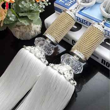 Window Diamond Crystal Rope Tie Backs Blinds Fringe Tiebacks Room Tassel Decoration 7 Colors Curtains For Living Room CP068A - DISCOUNT ITEM  10 OFF Home & Garden