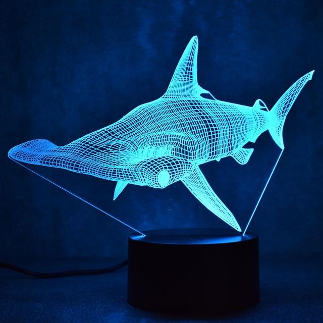 7 Colorful Fish 3D Lamp Acrylic LED Night Light USB Touch Sensor Light Children Cute Night Lamp Bedroom Light Kids Gifts