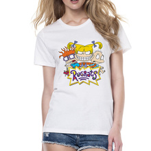 Fashion Cartoon Rugrats Women T Shirt 2018 Summer Short Slee