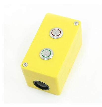 3A 250VAC SPDT Momentary Red Green Light 12V Metallic 2 Button Control Station