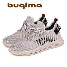 Buqima 2019 New Air-permeable Mens Mesh Shoes High-quality Comfortable Non-skid Soft Sports Running Leisure