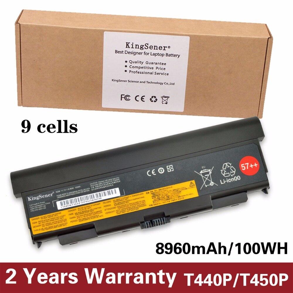 KingSener Nouvelle Batterie D'ordinateur Portable pour Lenovo ThinkPad T440P T540P W540 L440 L540 45N1152 45N1153 45N1149 45N1152 45N1145 11.1 V 100WH