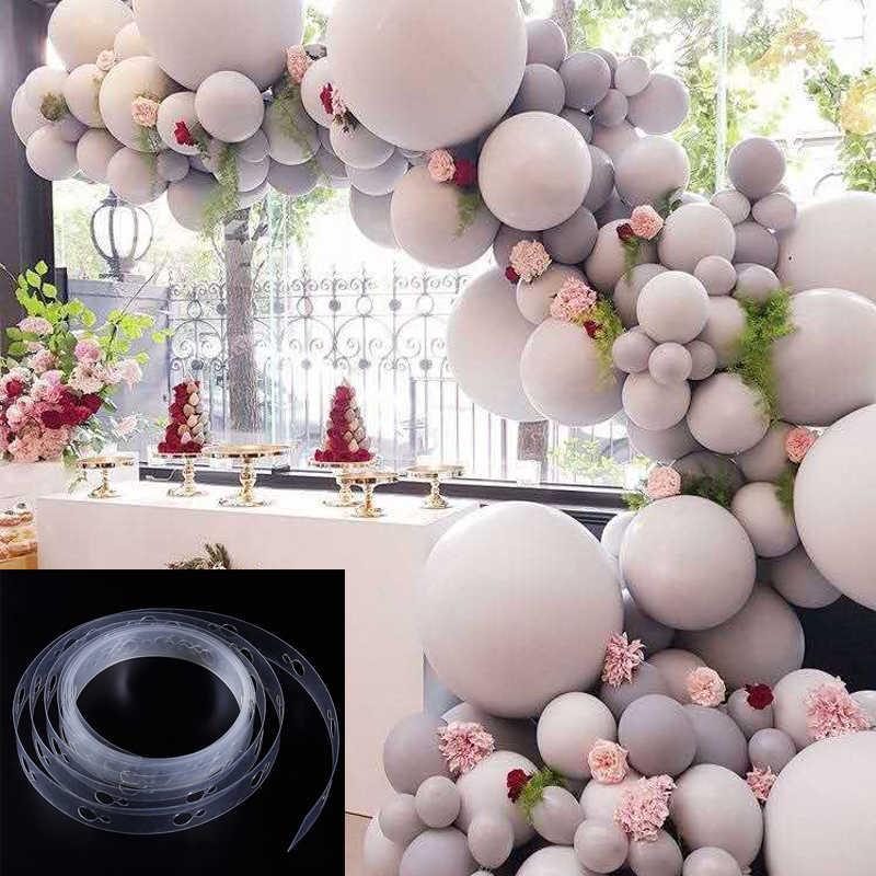 5M acessórios cadeia de balão balão balão de aniversário de casamento acessórios plum flor clipe bomba bomba fita fundo decorat