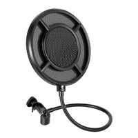 Crust Pro New Dual Layer Metal Grill Microphone Pop Filter Anti Spray Net Live Sing Recording Black Microphone Anti Spray Net|Microphone Accessories| |  -