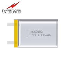 2x Wama 6060102 Excessive Capability 4800mAh DIY Li-ion three.7V Rechargeable Battery Lithium Polymer Cell Backup Energy Digital Pill