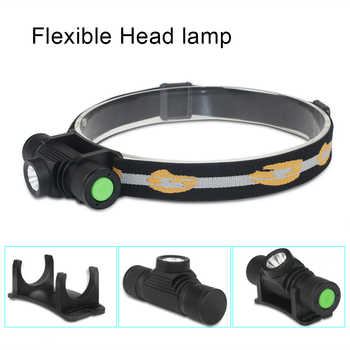 Waterproof USB T6 LED Headlamp D10 Headlight Dimming Bicycle Torch Head Flashlight Led Bike Light 1x 18650 Rechargeable Battery