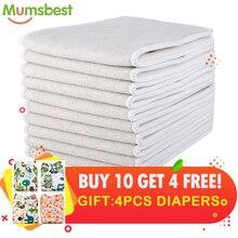 [Mumsbest] zdobądź 4 pieluchy bezpłatna sprzedaż hurtowa tkanina dla niemowląt pieluchy pieluchy konopne i wkładki z organicznej bawełny wkładki do pieluszka dla niemowląt