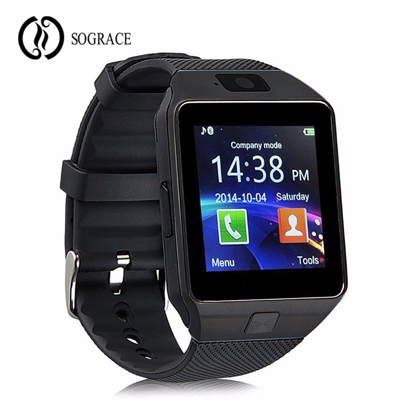 Sograce DZ09 Relogio  Wrist Watch Cell Phone Alarm Clock Camera Pedometer Touch Screen Smart Watch Waterproof Android Watch