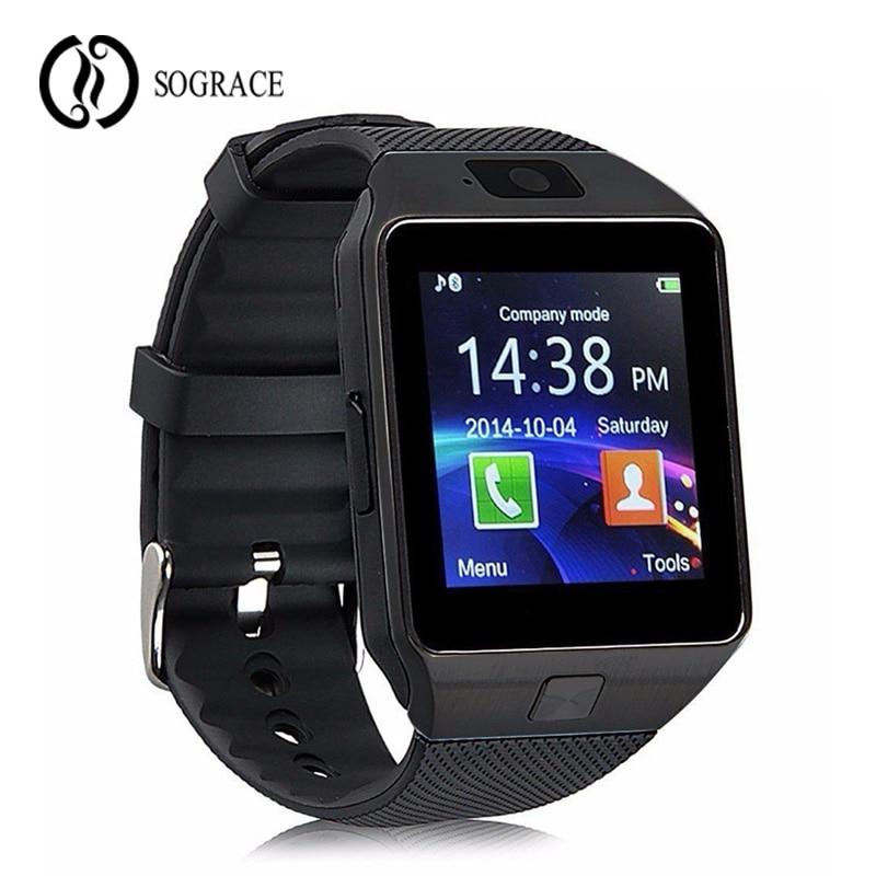Sograce DZ09 Relogio Wrist Watch Cell Phone Alarm Clock Camera Pedometer Touch Screen Smart Watch Waterproof Android Watch aps c fish eye lens 8mm f2 8 for fujifilm fx mount camera xt1 xt10 xe1 xe2 xm1