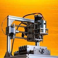 Mini 24V 5A DIY 3 Axis CNC Engraver Engraving Machine 130x100x40mm PCB Milling Wood Carving Engraving