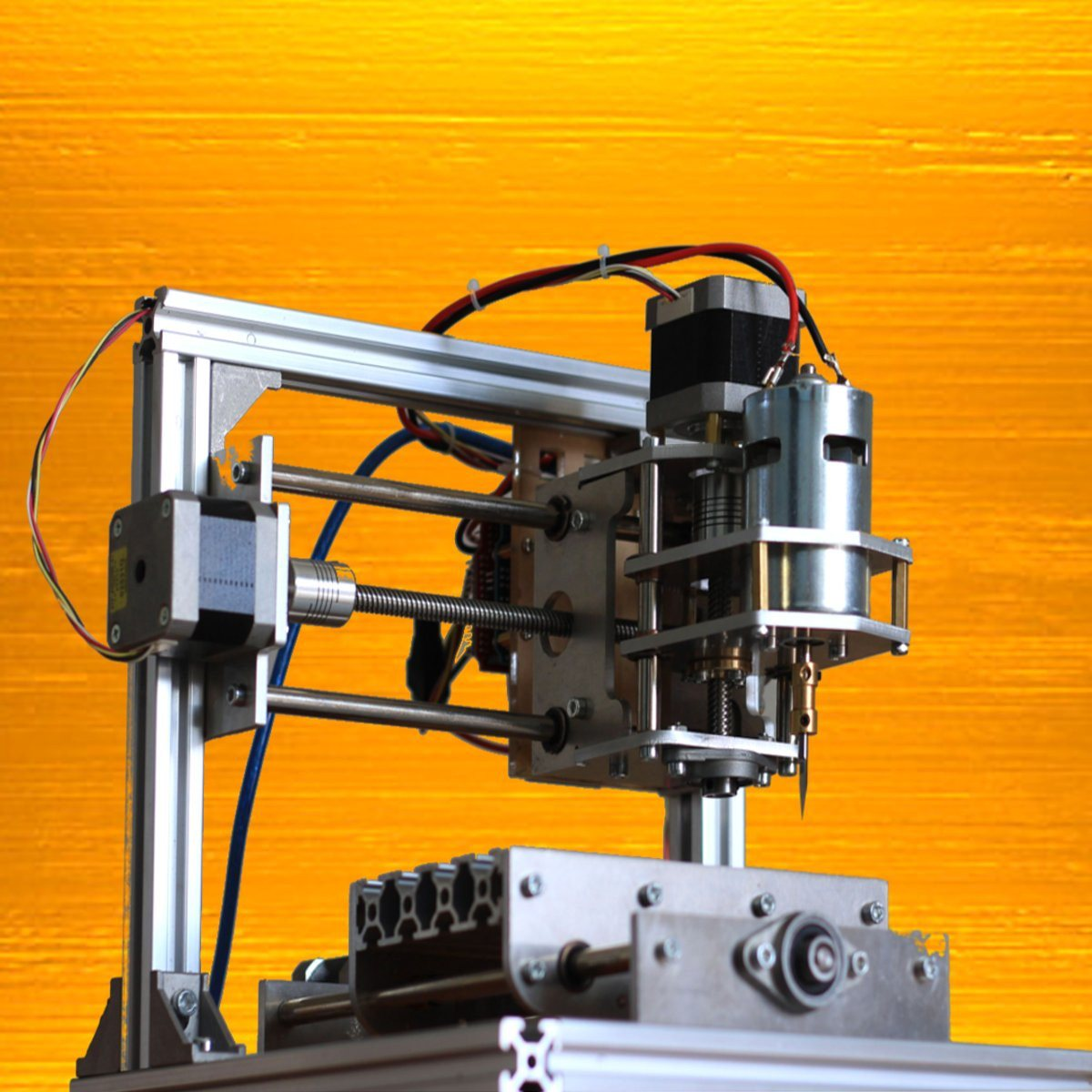Mini 24V 5A DIY 3 Axis CNC Engraver Engraving Machine 130x100x40mm PCB Milling Wood Carving Engraving Router Kit for Grbl Board