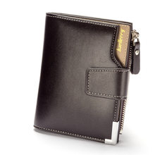 Baellerry Short men Wallets PU Leather male hasp Purse Card Holder Wallet Men soft Zipper Wallet With Coin bag Short Male Clutch(China)