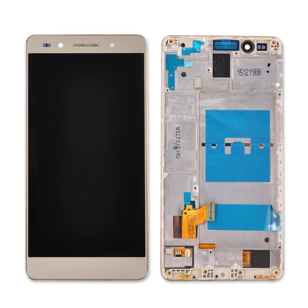 imágenes para Para Huawei Honor 7 Con El Marco de Pantalla LCD con Pantalla Táctil Digitalizador Asamblea de Cristal con herramientas libres envío gratis