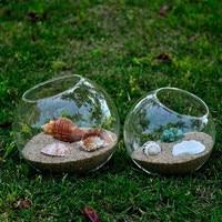 Free Shipping Oblique Mouth Glass Ball Terrarium Diameter=8cm 10cm 12cm 15cm 20cm Micro Landscape Container Glass Vase