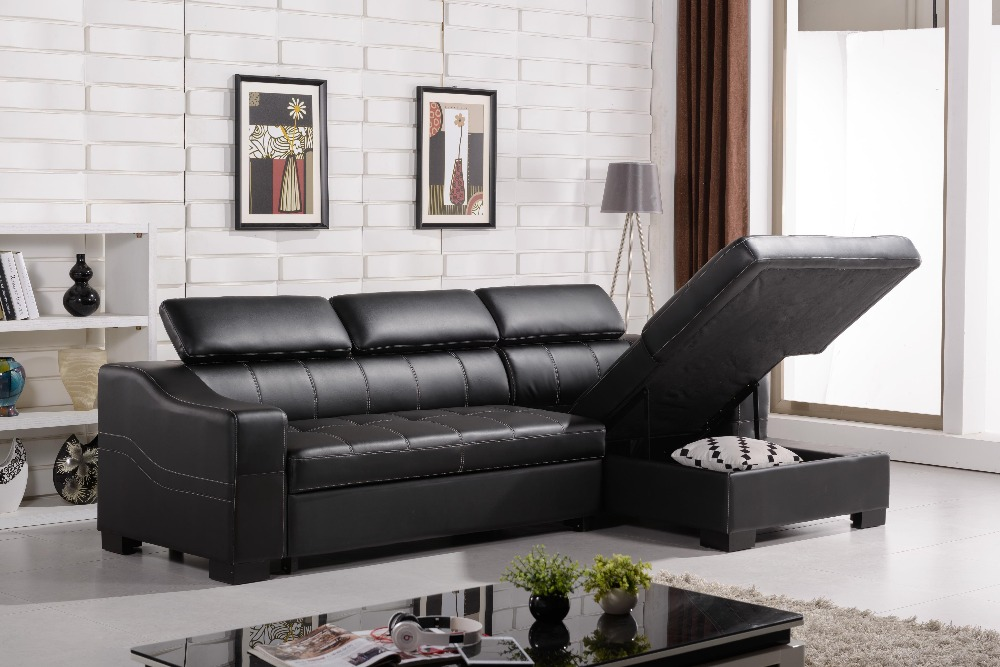 black leather l shaped sofa hereo