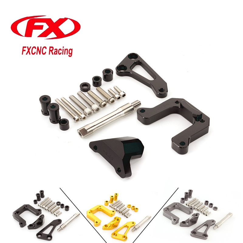 FXCNC Aluminum Adjustable Motorcycles Steering Stabilize Damper Bracket Mount Kit For Yamaha M-SLAZ Moto Support Accessories fxcnc universal stunt clutch easy pull cable system motorcycles motocross for yamaha yz250 125 yz80 yz450fx wr250f wr426f wr450