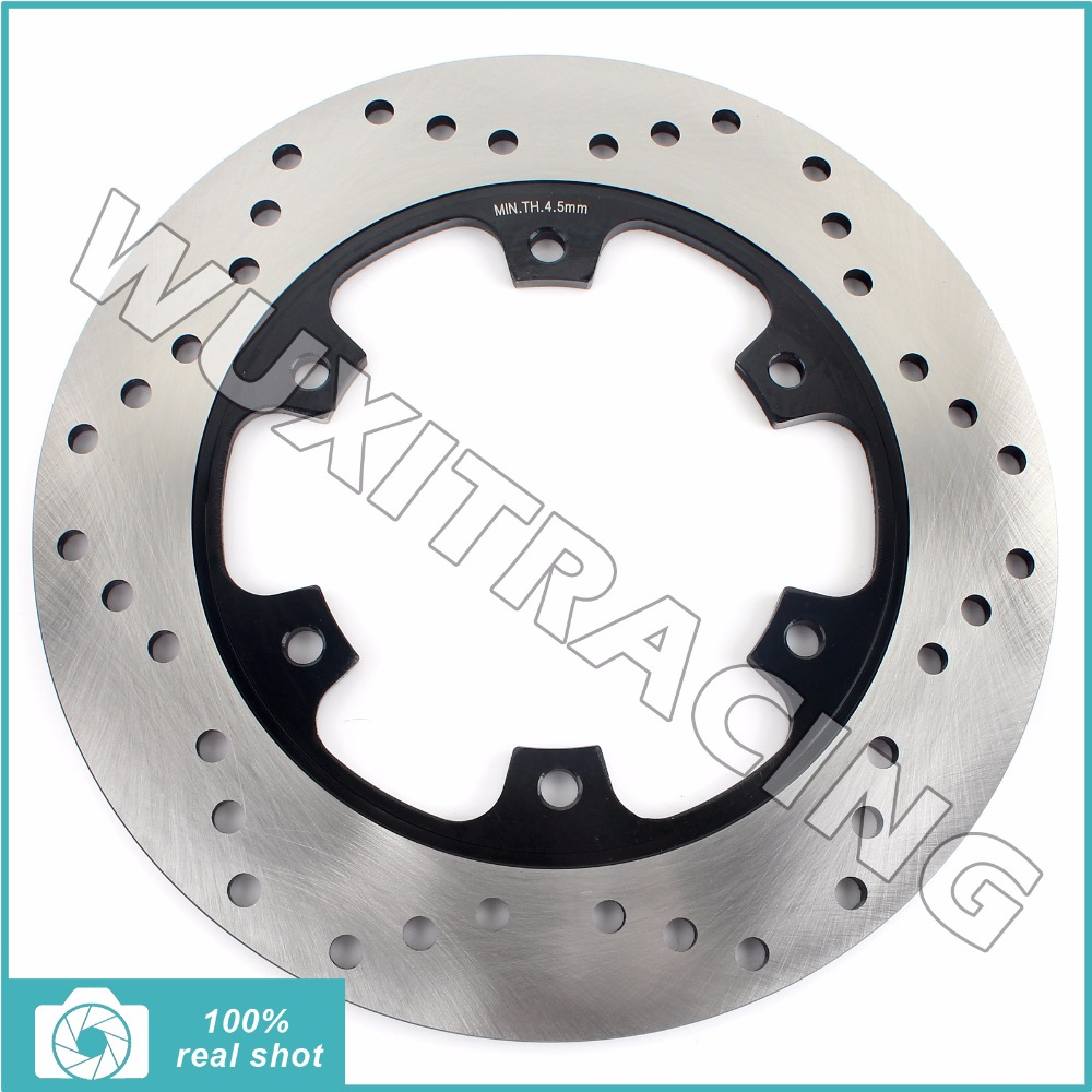 Rear Brake Disc Rotor for YAMAHA YP 250 Majesty ABS 95-07 96 97 98 99 00 01 02 03 04 05 06 YP250 DX de Luxe ABS SV S 1997-2003 motorcycle rear brake disc rotor for yamaha mt 01 05 10 mt 01s 2009 xjr1300 sp 99 01 xjr 1300 98 14 fjr1300 01 10 fjr1200 95 98