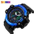 SKMEI Спортивные Часы Моды для Мужчин Открытый Водонепроницаемый Наручные Часы Dual Time Зоны Многофункциональный Цифровой Кварцевые Мужские Часы