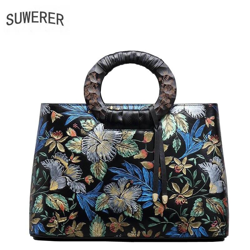 SUWERER 2019 newнатуральная кожа женские сумки для женщин 2019 новые роскошные сумки женские сумки дизайнерские женские кожаные сумки