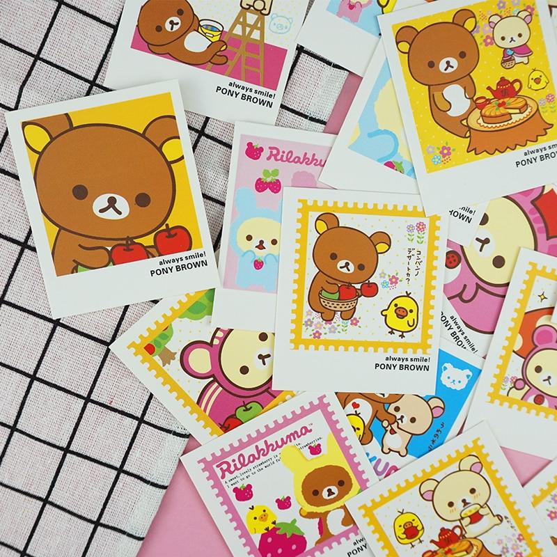 40 Pcs/Pack Cute Bear Mini Lomo Card Greeting Card Postcard Birthday Letter Envelope Gift Card Set Message Card