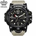 SMAEL Brand Waterproof Fashion Watch Men Sport Analog Quartz-Watch Dual Display LED Digital Electronic Watches relogio masculino