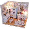 2015 Chegam Novas acessórios De Madeira Diy Casa De Bonecas em miniatura Casa de Bonecas miniatura 3D Para Brinquedos Das Crianças casas de bonecas Presente de Aniversário