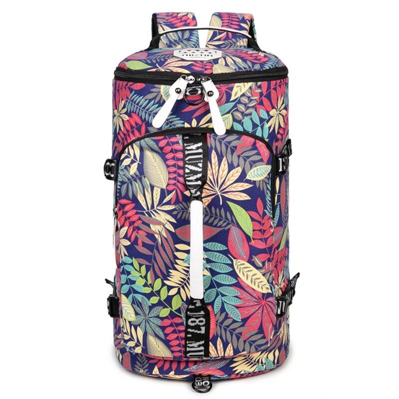 Men's Outdoor Large Capacity Waterproof Canvas Gym Bags  Women Sport Bag Fitness Backpack Handbag Yoga Sport Backpack