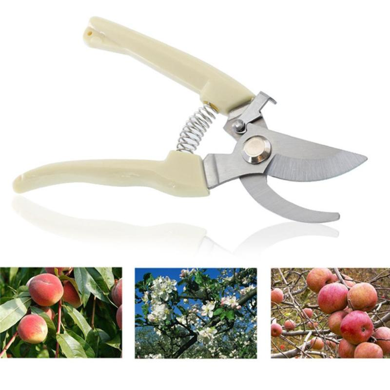Garden Pruning Shear Spring Grafting Scissors Carbon Steel Tree Pruner Cut Orchard Plant Scissors Branch Pruner Trimmer Tool