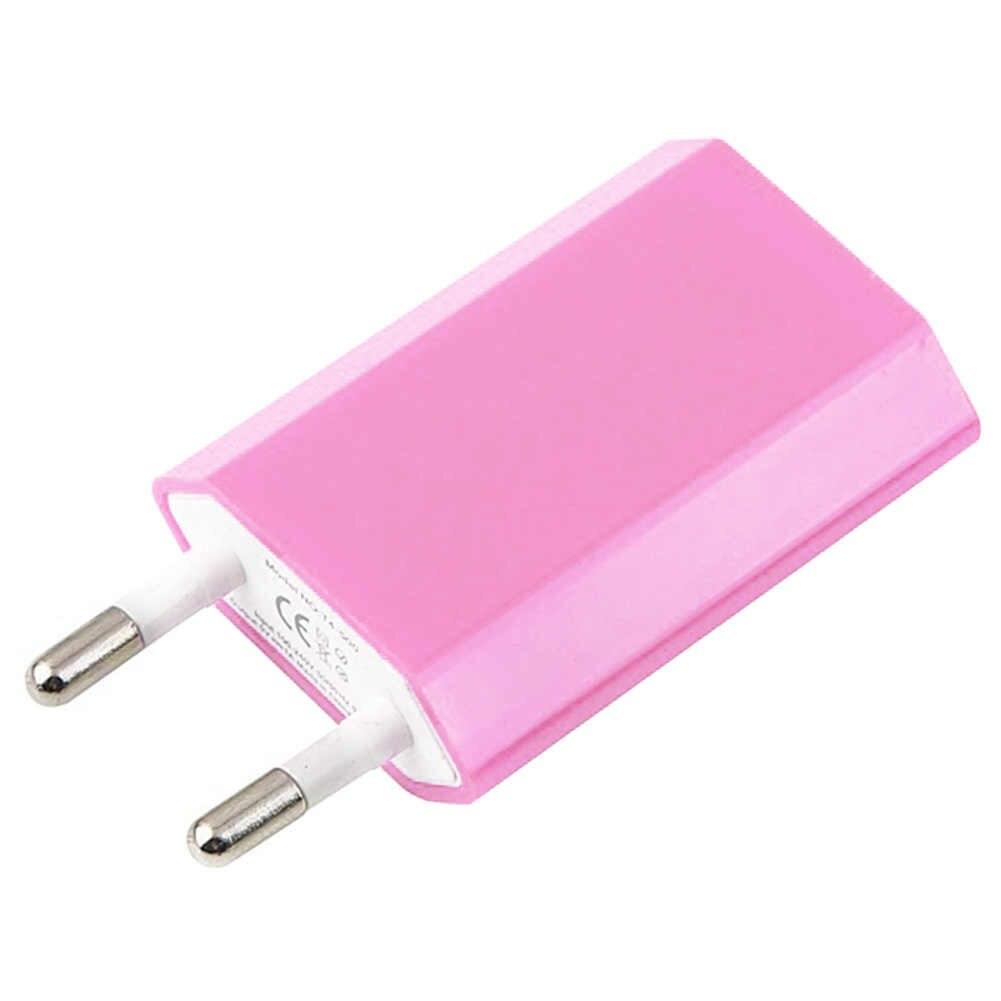 Phích Cắm EU Củ Sạc USB 5 V/1A Du Lịch Di Động Điện Thoại Treo Tường Adapter Sạc Cho Iphone Dành Cho Xiaomi Dành Cho Samsung dành Cho Huawei
