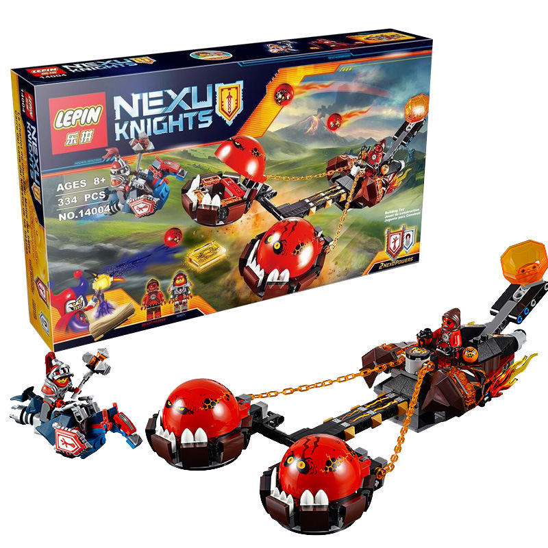 33Nexo Knights MiniFigures Beast Master Chaos Chariot Building Block LEPIN 14004 Compatible 70314 Kids Toys Brithday Gifts