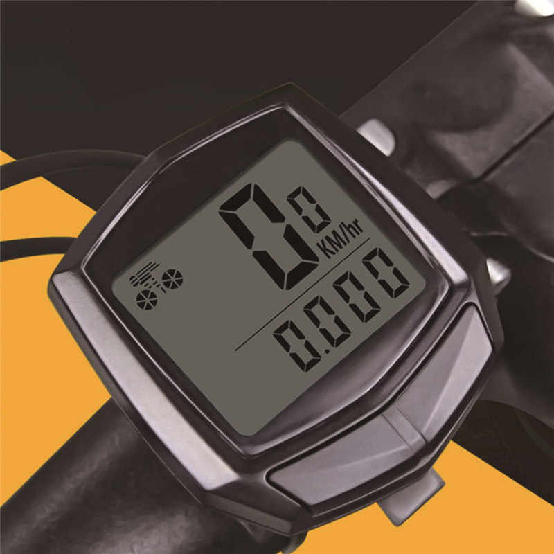 Cycling Bicycle Stopwatch Computer Waterproof Portable LCD Display Bike Cable Code Meter Speedometer Odometer Bicycle Accessory