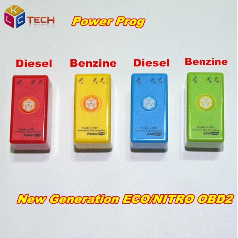 Цена за 5 шт./лот Мощность PROG лучше, чем эко/nitroOBD2 супер OBD2 Дизель/Автомобили чип тюнинг коробка с сброса Кнопка
