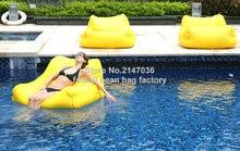 Yellow – Outdoor big joe bean bag chair, Theatre / Gaming chair, waterproof 2 seat space cushion-waterproof furniture sofa seat