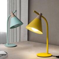 Простое исследование современные светодиодные настольные лампы желтый и зеленый цвета стол с подсветкой защиты глаз настольная лампа обра