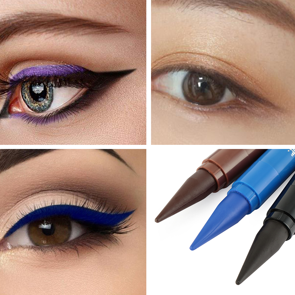 1pc Waterproof Quick Drying Smudge-proof Eyeliner Black/Blue/Brown Matte Longlasting Eye Makeup Beauty Tools Eyeliner Pencil