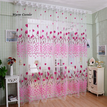 Warm Corner LM   Color Flower Window Screens Door Balcony Curtain Panel Sheer  Free Shipping Sept 2
