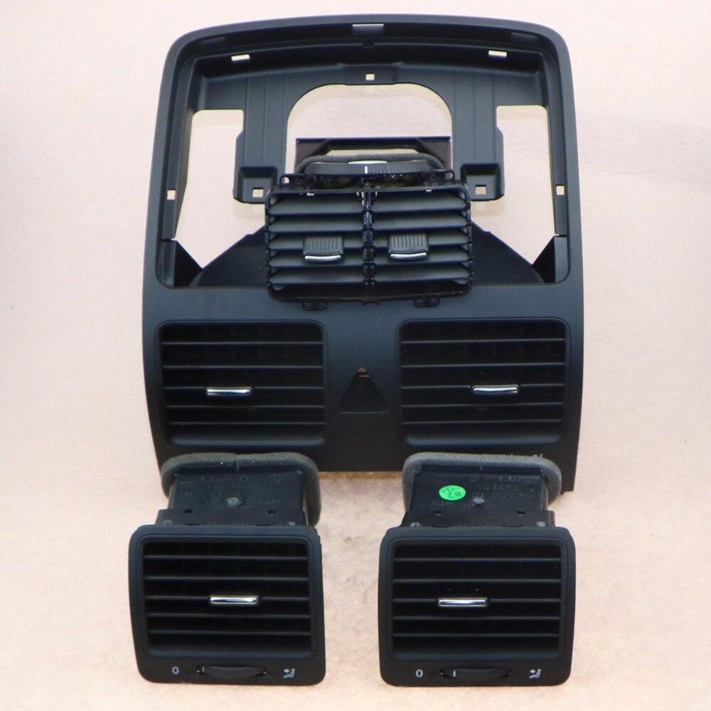 Center de voiture climatiseur sortie d'air Buse Ensemble Pour VW Jetta 5 Golf MKV Lapin 1KD 819 728 1KD 819 203 1KD 819 703 1KD 819 704
