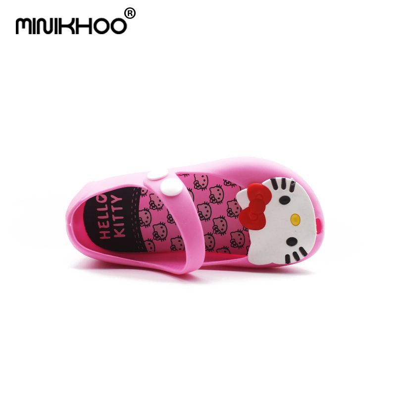 ad42a4e13 Mini Melissa 2018 Hello Kitty Shoes Melissa Jelly Sandals Girl Non slip  Kids Sandals Toddler Mini Melissa Girls Beach Sandals-in Sandals from  Mother & Kids ...