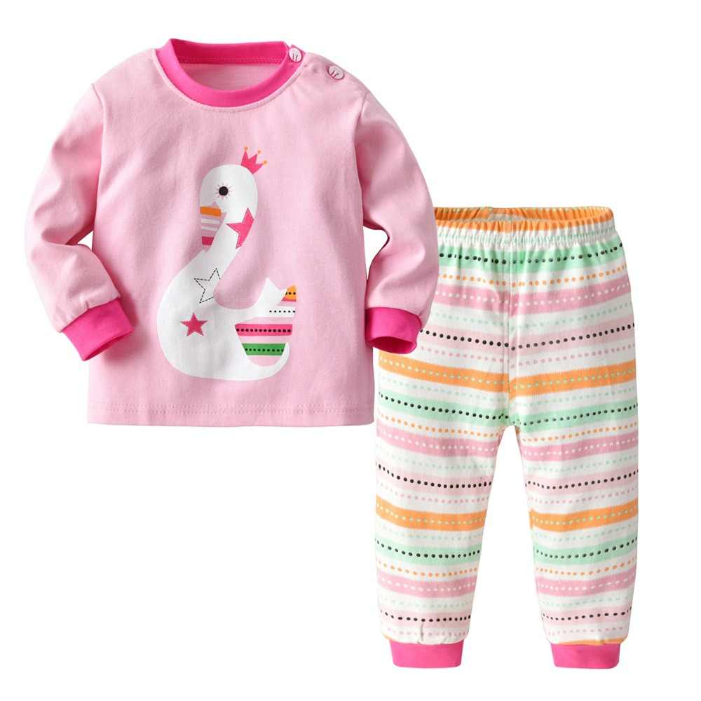 1-4years Print Cartoon Cotton Pajamas Sets for Girls 2019 Spring Little Kids  Boy Sleepwear 0806f0221
