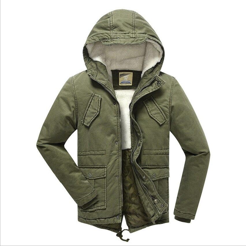 2019 Boys Winter Coat Outerwear Plus Velvet Warm Parka Wadded Jackets Fashion Hooded Solid Chilldren s