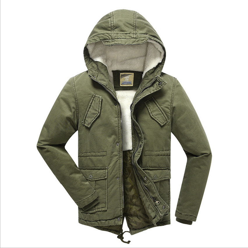 2019 Boys Winter Coat Outerwear Plus Velvet Warm Parka Wadded Jackets Fashion Hooded Solid Chilldren's Overcoat High Quality