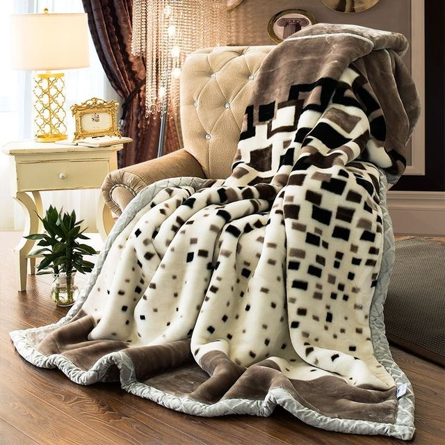 Blanket Ferret Cashmere Warm Blankets Fleece Plaid Super Soft Throw On Sofa Bed Thicker2 4kg Weight