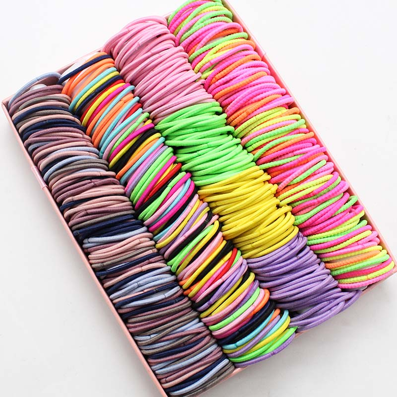 LCXNSWDBB 100pcs/lot 3CM Hair Accessories Rubber Bands Elastic Hair Bands For Hair